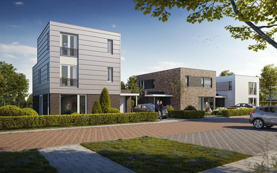 Het uiterlijk van de Parkwoningen verschilt per woning, uniek wonen op een toplocatie.